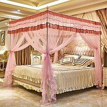 Boden, drei öffnen die Tür, Prinzessin Wind, Palast Moskitonetze, 1,8m2,0 m Bett, Edelstahl Stent , #2 , 200*220cm