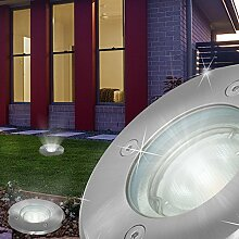 Boden Einbau Strahler AUSSEN Ø120mm/ LED/ Silber/