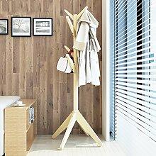 Boden Kleiderbügel Kleiderständer Boden Massivholz Regal Kleiderbügel , Kleiderhaken,Massivholz Mantel Racks Landung ( Farbe : C , größe : 60*170cm )