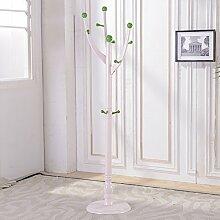 Boden Kleiderbügel Kleiderständer Boden Massivholz Regal Kleiderbügel , Kleiderhaken,Massivholz Mantel Racks Landung ( Farbe : Champagne green , größe : 40*185*108cm )