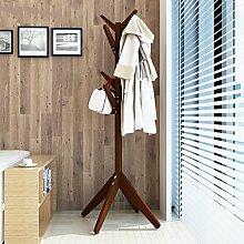 Boden Kleiderbügel Kleiderständer Boden Massivholz Regal Kleiderbügel , Kleiderhaken,Massivholz Mantel Racks Landung ( Farbe : A , größe : 60*170cm )