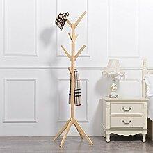 Boden Kleiderbügel Kleiderständer Boden Massivholz Regal Kleiderbügel , Kleiderhaken,Massivholz Mantel Racks Landung ( Farbe : C* , größe : 45*45*175cm )