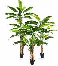 Boden-Kunstbaum Bananenbaum im Topf Amaru