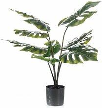 Boden-Kunstpflanze Fensterblatt im Topf Die