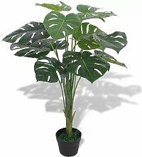 Boden-Kunstpflanze Fensterblatt im Topf Sansibar