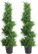 Boden-Kunstpflanze Zypresse im Topf Die Saisontruhe