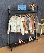 Boden stehender Garderobenständer Einzelstange