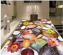 Boden tapete 3d für badezimmer stein pvc