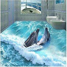 Boden Tapete 3D Stereoskopischen Delphin Ozean