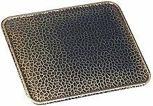 Bodenblech Bodenplatte Kaminplatte Funkenschutzplatte 50x80cm Altmessing