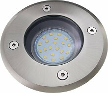 Bodeneinbaustrahler inkl. LED 4W warmweiß DIMMBAR