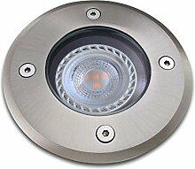 Bodeneinbaustrahler inkl. LED 7W warmweiß DIMMBAR