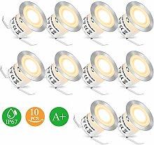 Bodeneinbaustrahler LED - Einbaustrahler 10PCS