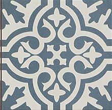 Bodenfliesen, Zement/Retrooptik blau weiß mix,
