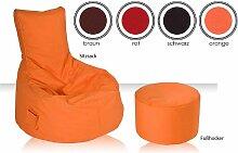 Bodenkissen in Orange
