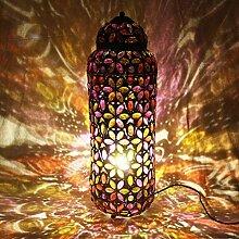 Bodenleuchten Boden Stehlampe Licht Traum, weiß / Farbe Optionale Projektion Stark Sofa Wohnzimmer Schlafzimmer Kaffee ( Farbe : Bunte-Button+LED-69cm )