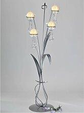 Bodenleuchter, Kerzenhalter VIVALDI mit 4 Gläsern