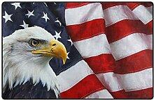 Bodenmatte Adler amerikanische Flagge Teppich