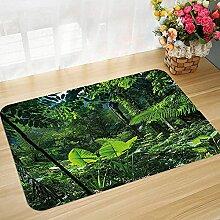 Bodenmatte Badematte rutschfest Pflanze, grüner