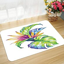 Bodenmatte Badematte rutschfest Pflanze, Tropische