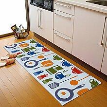 Bodenmatte/Fußabtreter/Matten In Der Halle/Küche,Toilette,Bar,Saugfähigen,Anti-schleudern,Fußmatten-C 40x60cm(16x24inch)