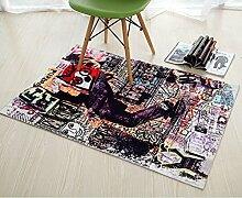 Bodenmatte,Fußabtreter,Tür Matten In Der Halle,Schlafzimmer Küche Bad Strip-pad,Sanitär Saugfähigen Badezimmer Matte-C 60x90cm(24x35inch)