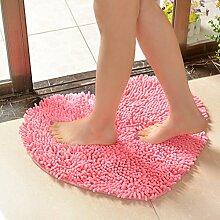 Bodenmatte,Heart Shaped Fußmatte,Wasseraufnahme Bad Anti-rutsch-matte,Die Tür Eingang Fußmatten,Bad Sanitär Pad-A 70x80cm(28x31inch)
