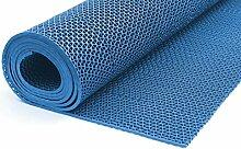 Bodenmatte in 3 Farben Saunaläufer Duschmatte Antirutschmatte Meterware 90 und 120 cm (90cm Blau)