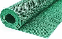 Bodenmatte in 3 Farben Saunaläufer Duschmatte Antirutschmatte Meterware 90 und 120 cm (90cm Grün)