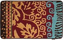 Bodenmatte/Indoor Mat/Flur Matten/Living Room,Schlafzimmer,Integriertem Pad/Badezimmer Tür Saugkissen-C 40x60cm(16x24inch)