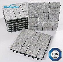 BodenMax Granit Click Bodenfliesen Set 30 x 30 cm