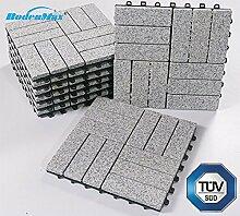 BodenMax LLGRA3H-GRY-5 Granit-barock Muster Mosaik