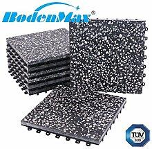 BodenMax® LLPLT001-BLK Terrazzo vollflächig