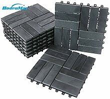 BodenMax® LLSLA3H-BLK-5 Schiefer-barock Muster