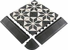 BodenMax Zement Mosaik Click Bodenfliesen Set 30 x
