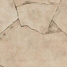 BODENMEISTER BM70400 PVC CV Vinyl Bodenbelag Auslegware Fliesenoptik Bruchstein beige 200, 300 und 400 cm breit, verschiedene Längen, Variante: Bruchstein beige, 2,5 x 3 m