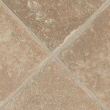 BODENMEISTER BM70400 PVC CV Vinyl Bodenbelag Auslegware Fliesenoptik diagonal beige 200, 300 und 400 cm breit, verschiedene Längen, Variante: diagonal beige, 3,5 x 4 m