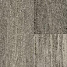 BODENMEISTER BM70510 PVC CV Vinyl Bodenbelag Auslegware Holzoptik 200, 300 und 400 cm Breit, landhausdiele eiche grau, 2, 5 x 3 m