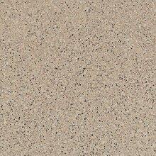 BODENMEISTER BM70555 PVC CV Vinyl Bodenbelag Auslegware Fliesenoptik Granit beige 200, 300 und 400 cm breit, verschiedene Längen, Variante: 4,5 x 2 m
