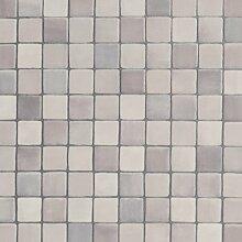 BODENMEISTER BM70555 PVC CV Vinyl Bodenbelag Auslegware Fliesenoptik Mosaik grau 200, 300 und 400 cm breit, verschiedene Längen, Variante: 8,5 x 2 m