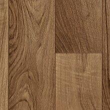 BODENMEISTER BM70555 PVC CV Vinyl Bodenbelag Auslegware Holzoptik 2-Stab Nussbaum 200, 300 und 400 cm breit, verschiedene Längen, Variante: 7 x 3 m