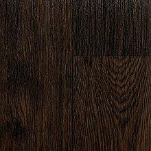 BODENMEISTER BM70555 PVC CV Vinyl Bodenbelag Auslegware Holzoptik Landhausdiele Eiche dunkel 200, 300 und 400 cm breit, verschiedene Längen, Variante: 3 x 4 m