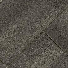 BODENMEISTER BM70556 PVC CV Vinyl Bodenbelag Auslegware Fliesenoptik Steinoptik diagonal grau anthrazit 200, 300 und 400 cm breit, verschiedene Längen, Variante: 5 x 2 m