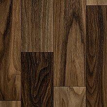 BODENMEISTER BM70568 PVC CV Vinyl Bodenbelag Auslegware Holzoptik Schiffsboden Nussbaum 200, 300 und 400 cm breit, verschiedene Längen, Variante: 2 x 3 m