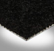 BODENMEISTER BM72182 Teppichboden Auslegware Meterware Hochflor Shaggy Langflor Velour schwarz 400 cm und 500 cm breit, verschiedene Längen, Variante: 3 x 5 m