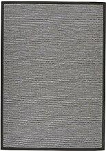 BODENMEISTER Sisal-Optik In- und Outdoor-Teppich Flachgewebe modern hochwertige Bordüre, verschiedene Farben und Größen, Variante: anthrazit grau, 200x290