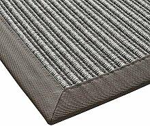 BODENMEISTER Sisal-Optik In- und Outdoor-Teppich Flachgewebe modern hochwertige Bordüre, verschiedene Farben und Größen, Variante: hell-grau, 200x290