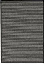 BODENMEISTER Sisal-Optik In- und Outdoor-Teppich Flachgewebe modern hochwertige Bordüre, verschiedene Farben und Größen, Variante: anthrazit dunkel-grau, 60x110