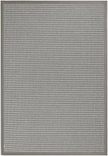 BODENMEISTER Sisal-Optik In- und Outdoor-Teppich Flachgewebe modern hochwertige Bordüre, verschiedene Farben und Größen, Variante: hell-grau, 60x110
