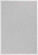 BODENMEISTER Sisal-Optik In- und Outdoor-Teppich Flachgewebe modern hochwertige Bordüre, verschiedene Farben und Größen, Variante: hell-grau, 240x340